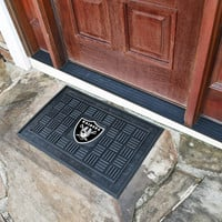 Oakland Raiders Medallion Door Mat