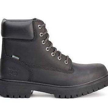 "Timberland Pro 6"" Work Boots Direct Attach Steel Toe Black 26038"