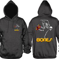 Powell Peralta - Skateboarding Skeleton Hooded Sweatshirt Charcoal