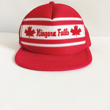 Vintage, Niagara Falls, Adjustable, Mesh Snapback, Truckers Hat, Drinking Team, Beach Wear, Unisex Fashion