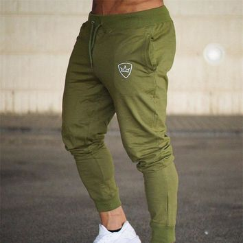 Casual Fitness Bodybuilding Skinny Sweatpants Gyms Mens Joggers Pants Cotton Joggers Track Pants Long Trousers