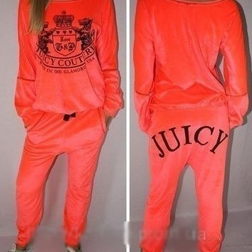 Juicy Couture neon orange tracksuit by Luxury store