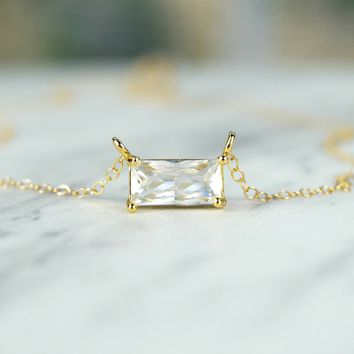 Shop Emerald Cut Necklace on Wanelo 83aedda28236