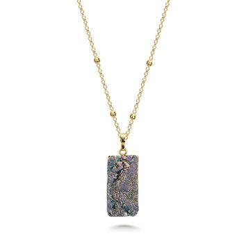 Raindow Druzy Stone Necklace