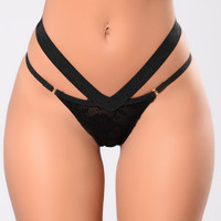 Long For You Bikini Panty - Black