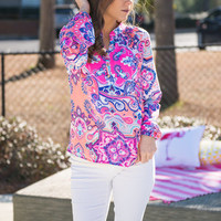 Bright Away Blouse, Peach