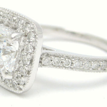 2.00ctw CUSHION cut antique style diamond by ninaellejewels