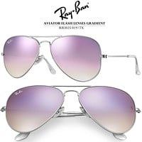 Authentic Ray-Ban Lilac Gradient Flash Sunglasses RB3025 019/7X