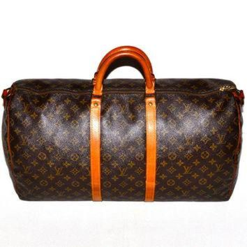 VLX9RV Make an Offer LOUIS VUITTON Keepall 55 Duffel Bag Large LV Monogram Weekend Travel Car