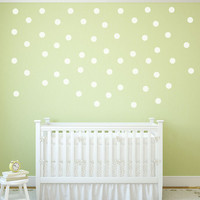 2.5 inch Gold Polka Dot Wall Decals - Gold Dot Wall Decals - Vinyl Decals - nursery decor - nursery decals - boys room wall decal - girls room decor