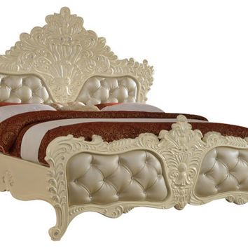 Novara Pearl White King Bed