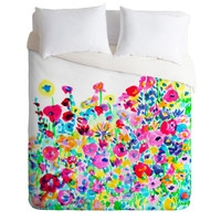 Amy Sia Flower Fields Pink Duvet Cover
