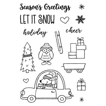 Christmas Holiday Set Silicone Stamp DIY scrapbooking/photo album Decor clear stamp Sheet 14*14cm