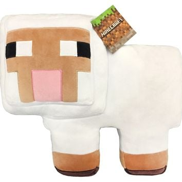 MineCraft Plush Sheep Pillow Buddy Brown