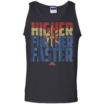 Marvel Captain Marvel Movie Higher Faster Graphic  Tank Top