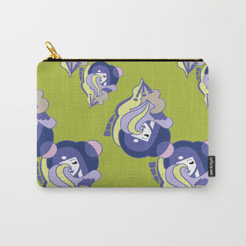Moon Phase Art Deco Pattern Carry-All Pouch by Christina Siravo