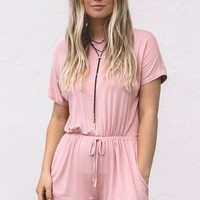 Live Forever Dusty Pink Romper