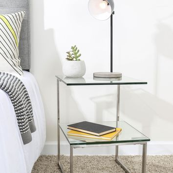 6G Glass End Table