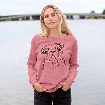 Darling Chloe the Pug - Cali Wave Crewneck Sweatshirt