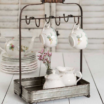 Tabletop Mug Rack with Tray - *FREE SHIPPING*