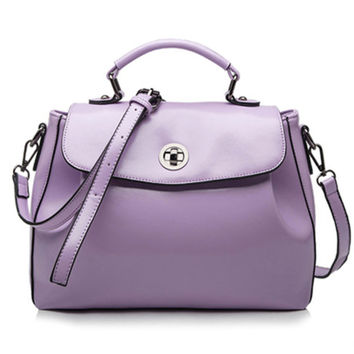 Casual Chic Lavender Faux Leather Tote. Light Purple Leather Satchel. Summer Weekend Bag. Color Choice