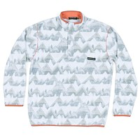 North Basin Pullover in White & Gray by Southern Marsh - FINAL SALE