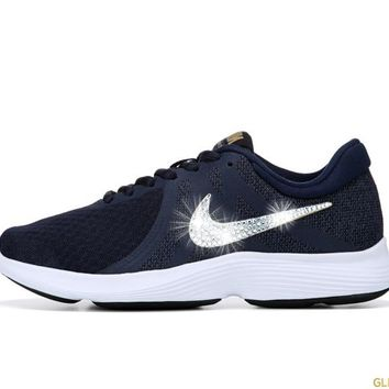 Nike Revolution 4 + Crystals - Obsidian/Gold