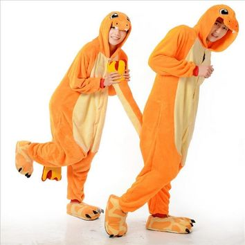 ship Adult  Pop anime  Charizard jumpsuit Pajamas pyjamas costume charmander fire dragon Adult Unisex Onesuit PartyKawaii Pokemon go  AT_89_9