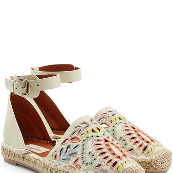 Valentino - Embroidered Leather Espadrilles