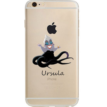 Disney's Villains (Ursula) Jelly Clear Case For Apple Iphone 6/6s PLUS (5.5-Inch)