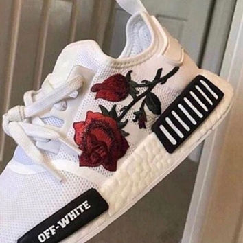 Adidas NMD Off-White Boost Women Casual Sports Shoes Sneakers   Love Q333