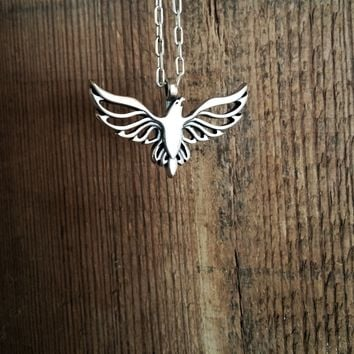 FREEDOM Soaring Eagle Necklace - Sterling Silver