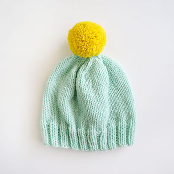 Sweet Mint and Lemon Beanie