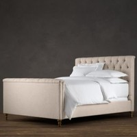 Chesterfield Upholstered Panel Bed | Metal Beds | Restoration Hardware