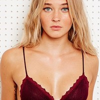 Honeydew Lace Bralette in Burgundy - Urban Outfitters