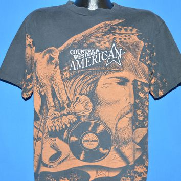 90s Country Western American Music All Over Print t-shirt Large