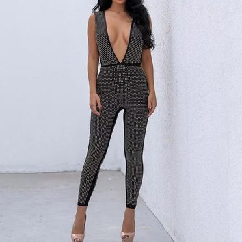 Embellished Long Jumpsuit