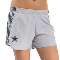 Dallas Cowboys Nike Women's Warpspeed Pacer Performance Shorts - Gray
