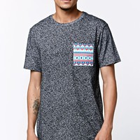 On The Byas Carson Noise Pocket Crew T-Shirt - Mens Tee - White