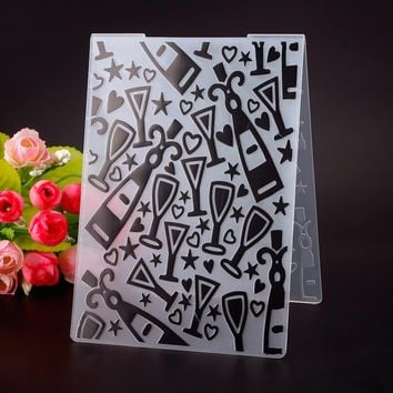 High Quality Plastic Gift Box Embossing Folder DIY Scrapbooking Photo Album Card Cutting Dies Template #230603