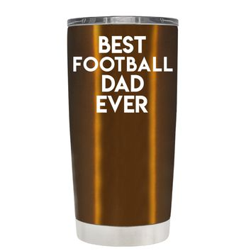 TREK Best Football Mom Ever on Copper 20 oz Tumbler Cup
