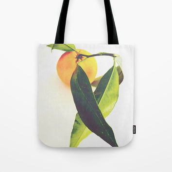 Tangerine Tote Bag by ARTbyJWP