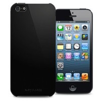KAYSCASE Slim Hard Shell Cover Case for Apple new iPhone 5 / iPhone 5S, Retail Packaging with Screen Protector (Black)