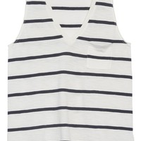 Madewell Whisper Cotton Stripe Pocket Tank | Nordstrom