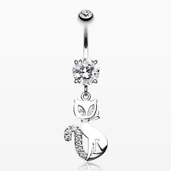 Urban Kitty Cat Belly Button Ring