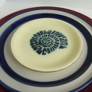 Pair of Fused Glass Nautilus Shell Salad or Dessert Plates