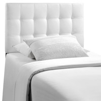 Countess Twin Vinyl Headboard in White