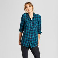 Women's Plaid Any Day Tunic - A New Day™ Blue