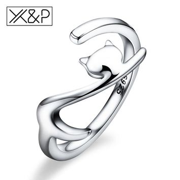 Fashion Charm 100% 925 Sterling Silver Sticky Long Tail Cat