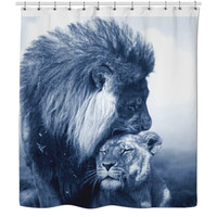 King And Queen Shower Curtains
